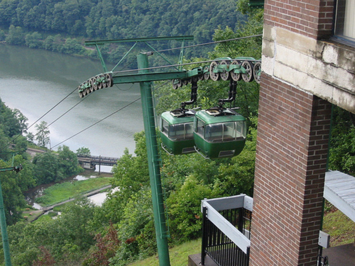 The Sky Tram at Hawk's Nest.