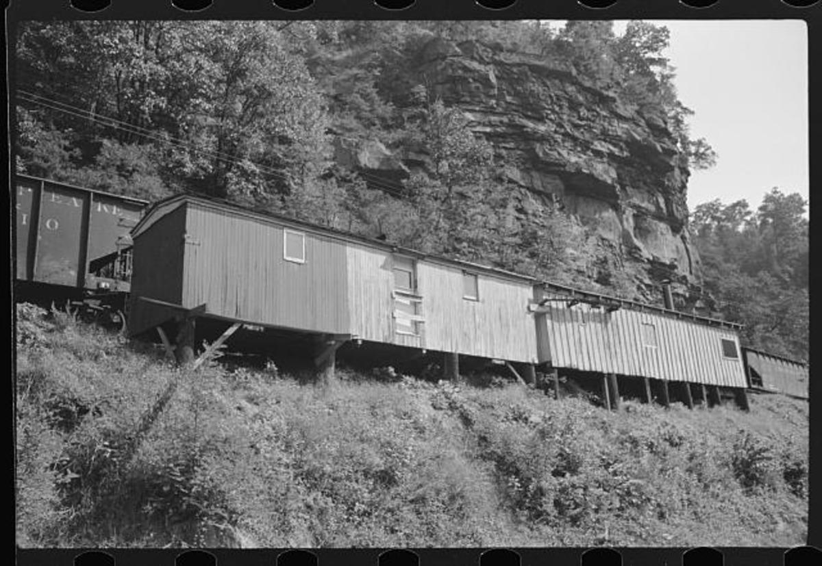 Old boxcars were also used in some coal mining villages along route 60 near Gauley Bridge.