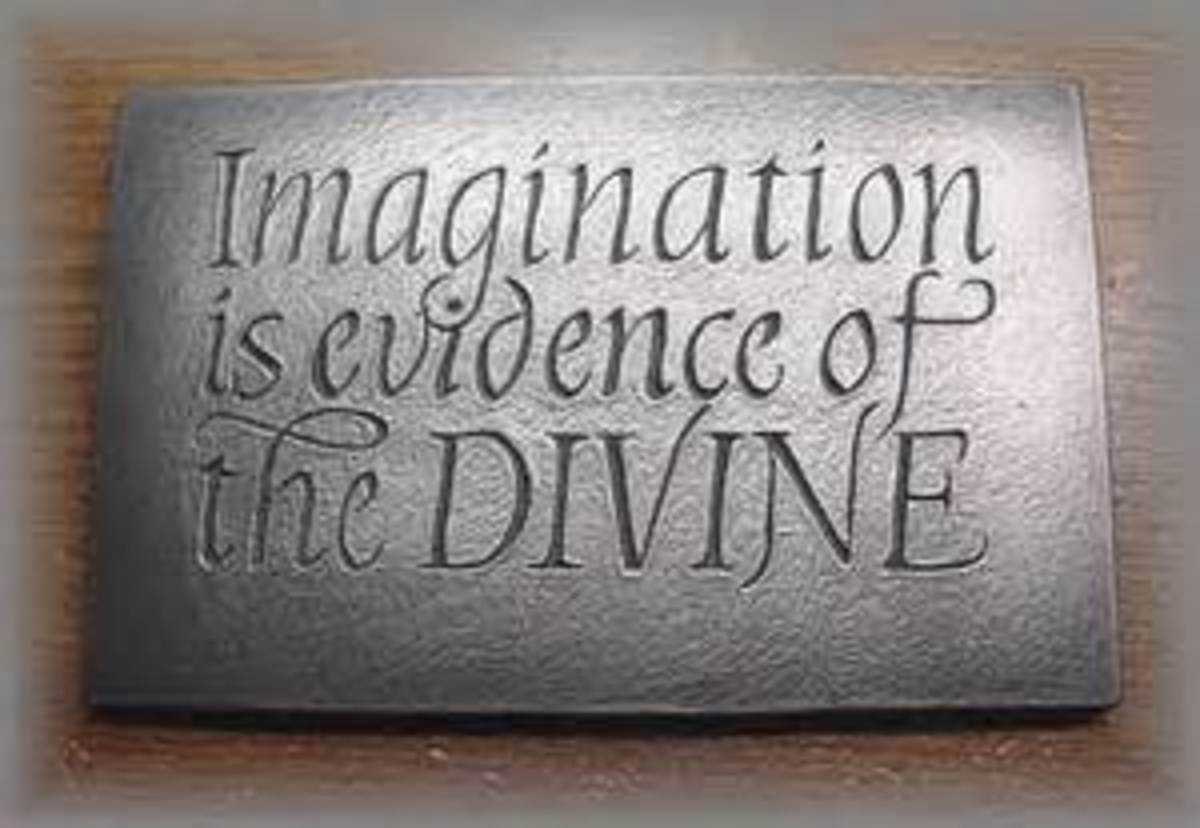 Just my imagination, with God it is not running away