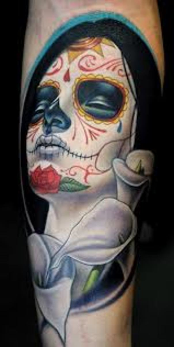 Day Of The Dead Tattoo Designs And Meanings-Day Of The Dead Tattoo Ideas And Pictures