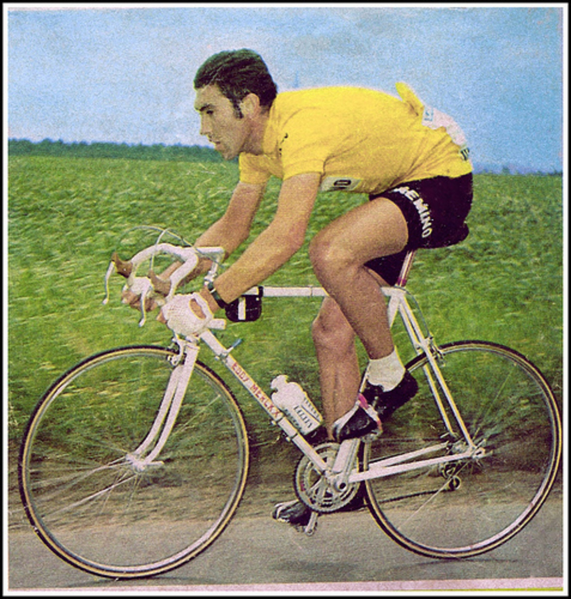 Eddy Merckx in racing action. Eddy was arguably the best cyclist in the history of the sport