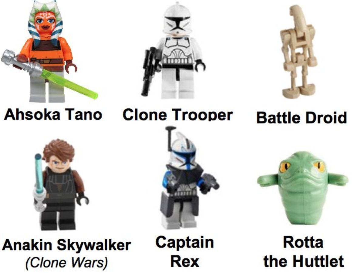 LEGO Star Wars AT-TE Walker 7675 Minifigures