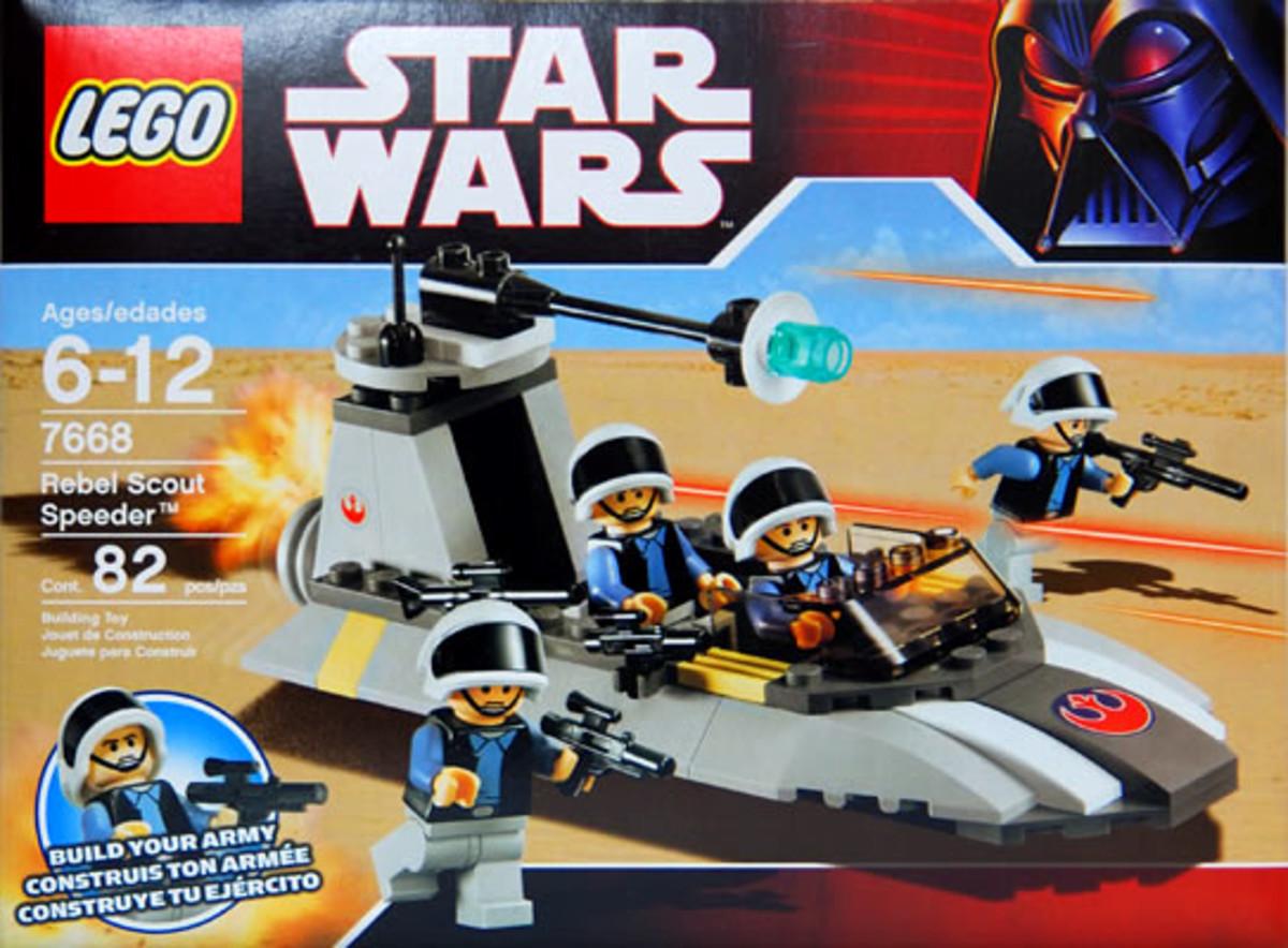 LEGO Star Wars Rebel Scout Speeder 7668 Box