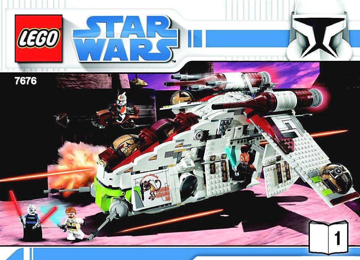 LEGO Star Wars Republic Attack Gunship 7676 Box