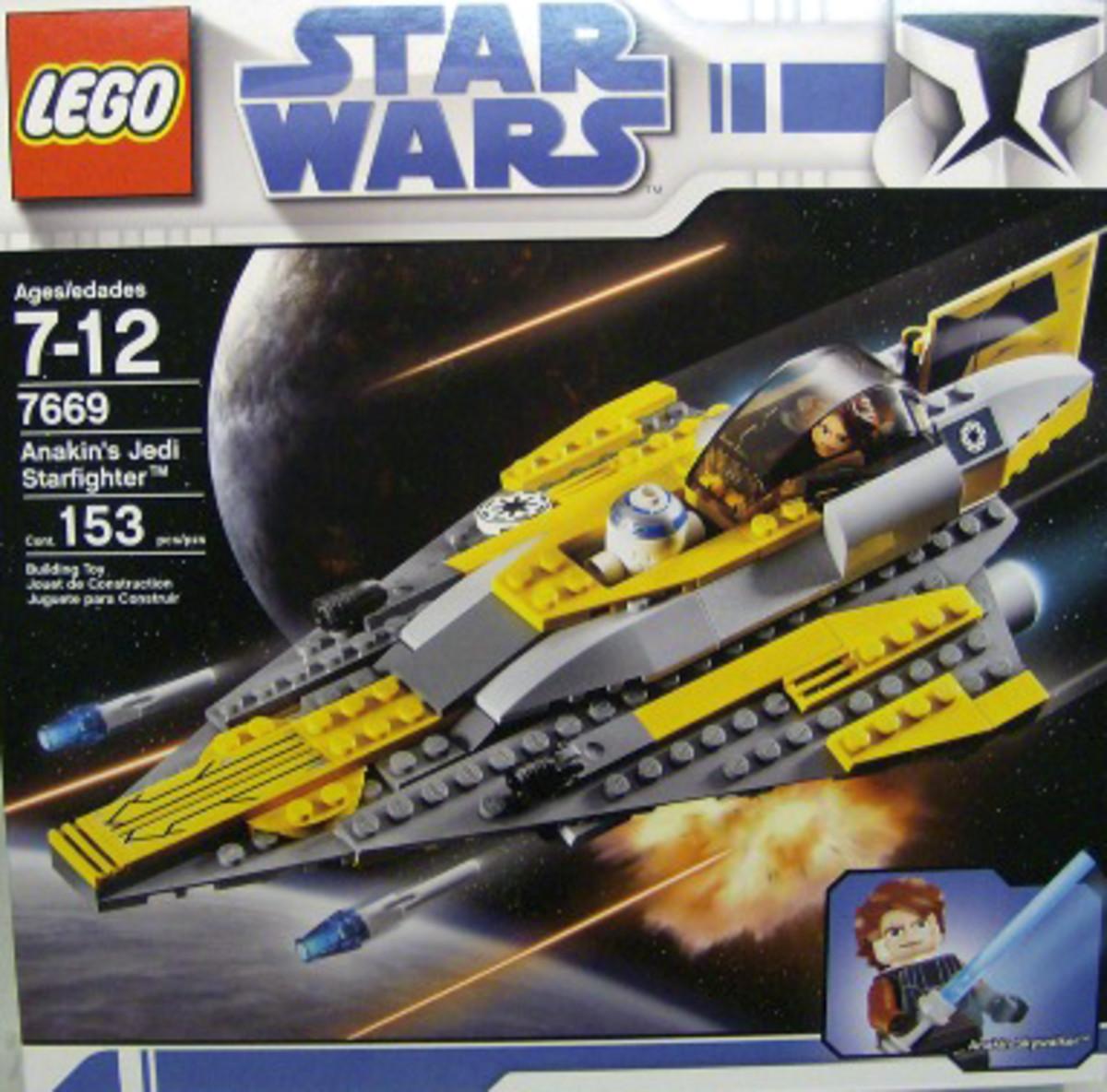 LEGO Star Wars Anakin's Jedi Starfighter 7669 Box