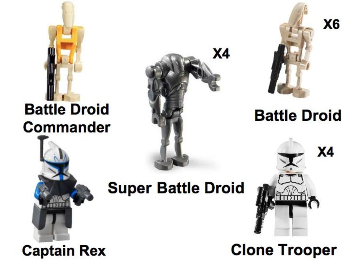 LEGO Star Wars Clone Wars Exclusive comcon001 Minifigures