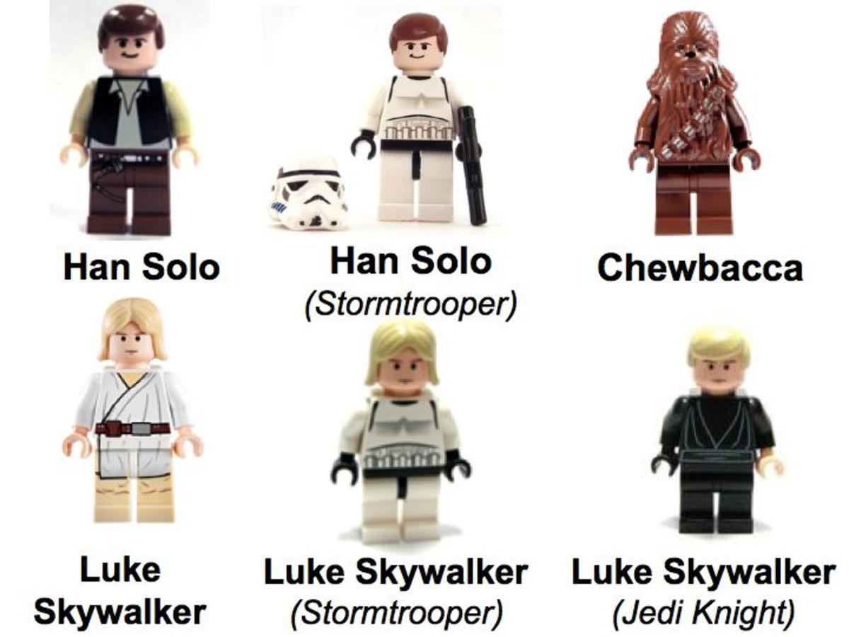 LEGO Star Wars Death Star 10188 Minifigures Luke Skywalker, Han Solo, Chewbacca