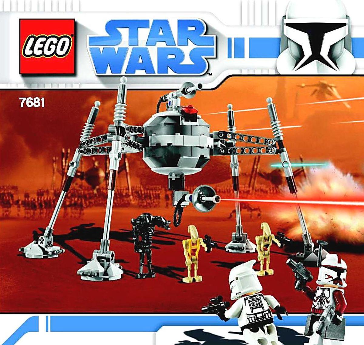 LEGO Star Wars Separatist Spider Droid 7681 Box