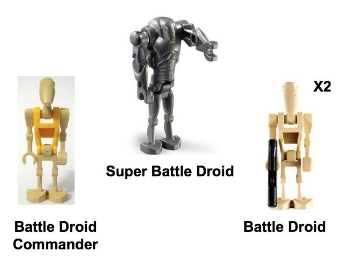 LEGO Star Wars Hailfire Droid & Spider Droid 7670 Minifigures