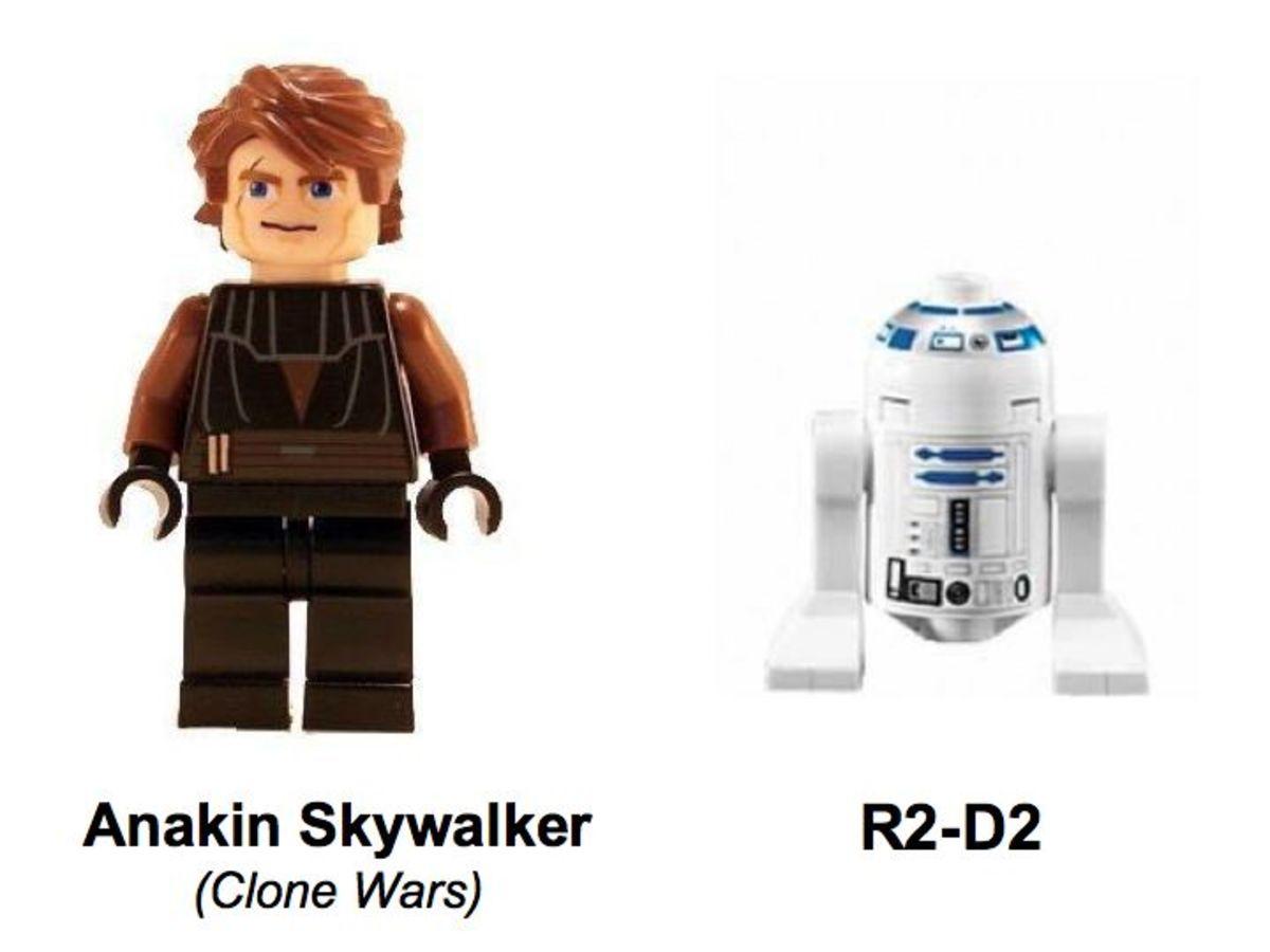 LEGO Star Wars Anakin's Jedi Starfighter 7669 Minifigures