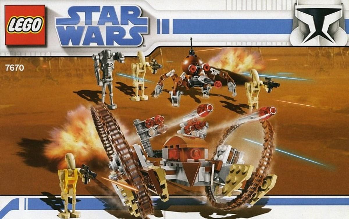 LEGO Star Wars Hailfire Droid & Spider Droid 7670 Box