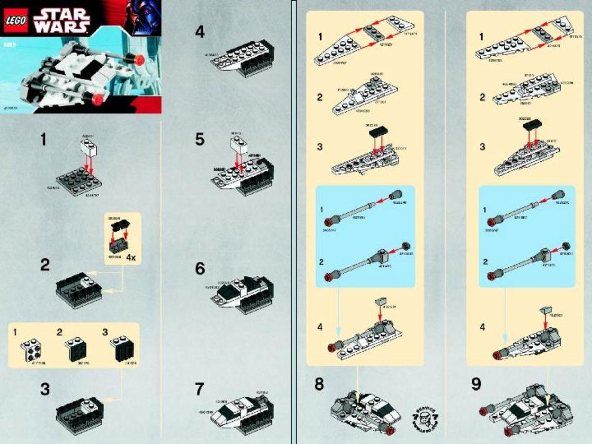 LEGO Star Wars Snowspeeder 8029 Instructions