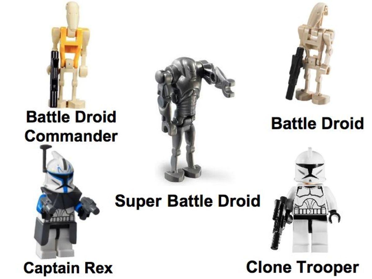 LEGO Star Wars Separatist Spider Droid 7681 Minifigures