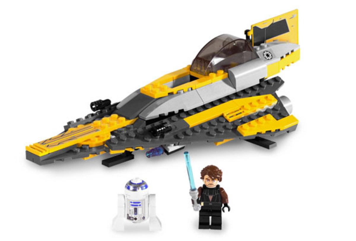 LEGO Star Wars Anakin's Jedi Starfighter 7669 Assembled