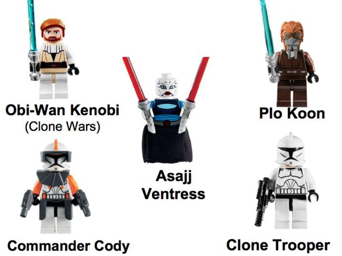 LEGO Star Wars Republic Attack Gunship 7676 Minifigures