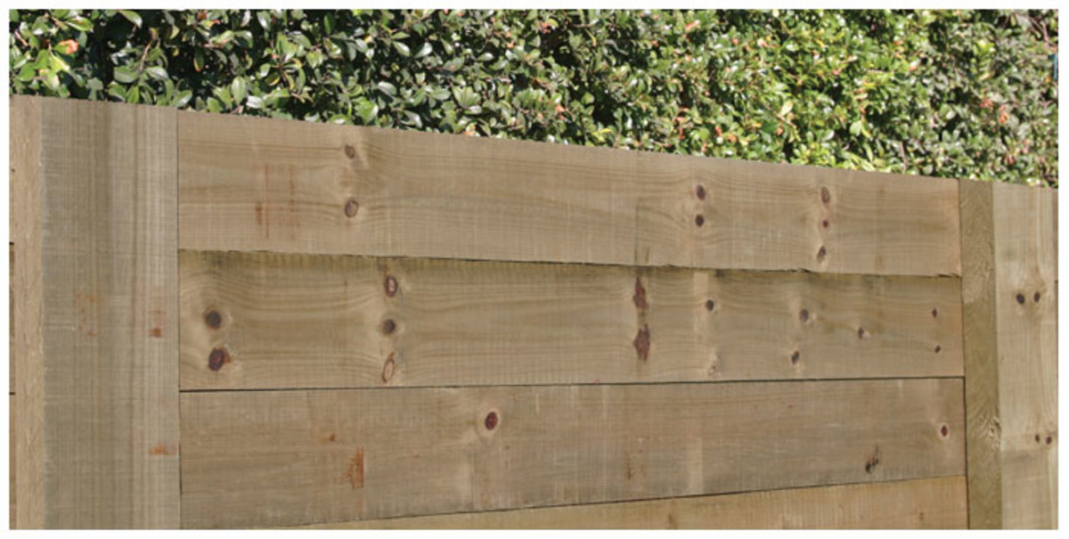 We believe that most people will be able to build a timber retaining wall, perhaps not as high as the one shown in the picture, but just a couple of timber planks high.
