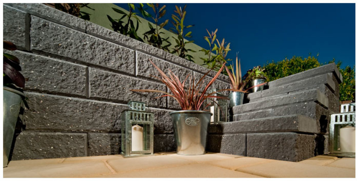 Not all concrete walls require fresh cement when you build them, some of these concrete blocks are made to be laid dry, like the one in this photo and many others, check with the link in this section.