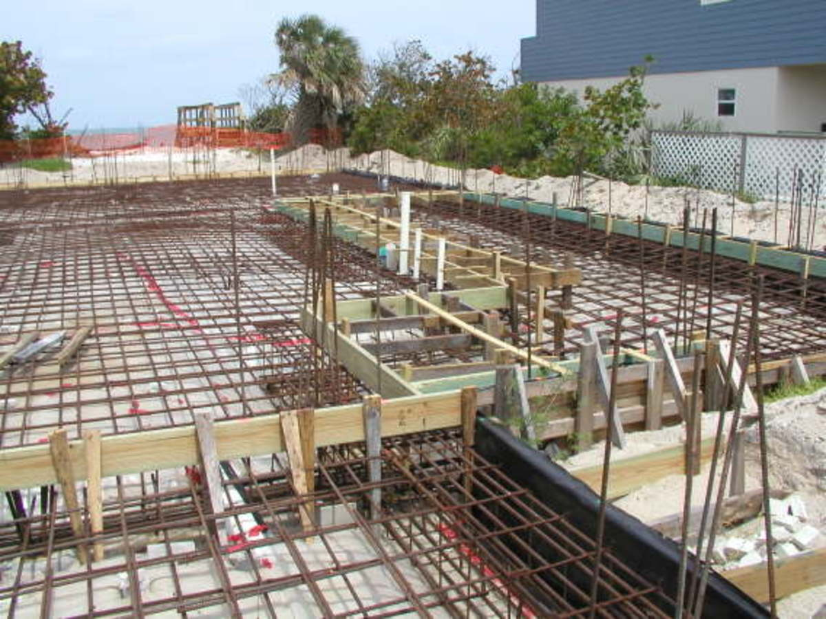 This photo is showing the steel reinforcement for a concrete slab and foundation to be laid together, now this is definitely not a do it yourself job, but it is here to show you how things are done in the building industry.