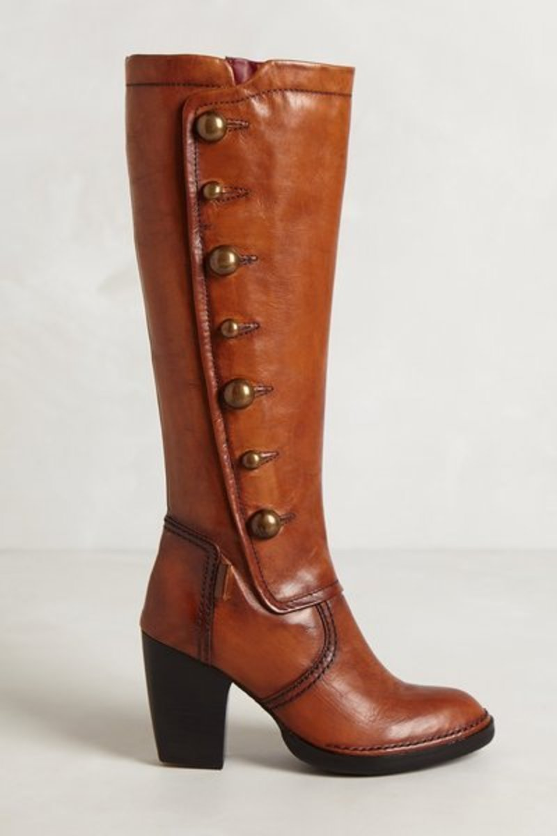 Heath Button Boots--$300 at Anthropologie. Reputedly narrow-calf with slender ankles.