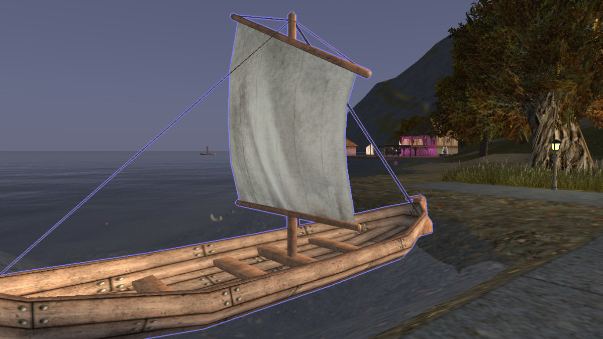 A sailboat from Wurm Online.