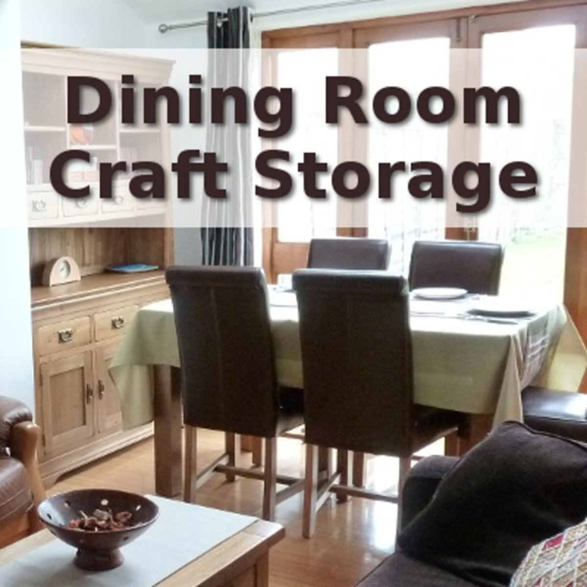Dining room craft storage ideas and solutions