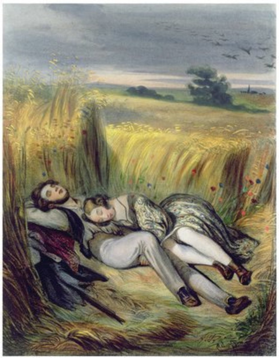 Two Lovers Lying in a Cornfield