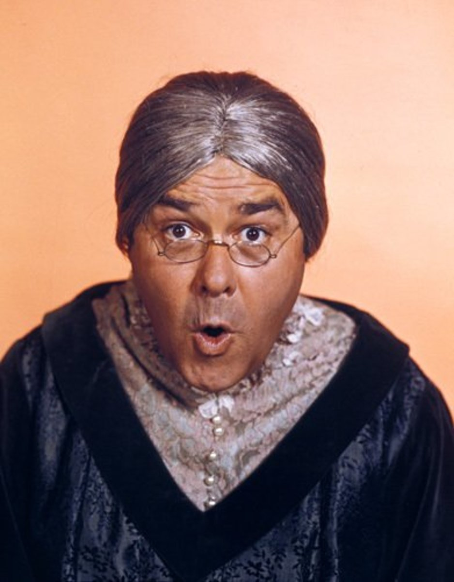 Jonathan Winters in character