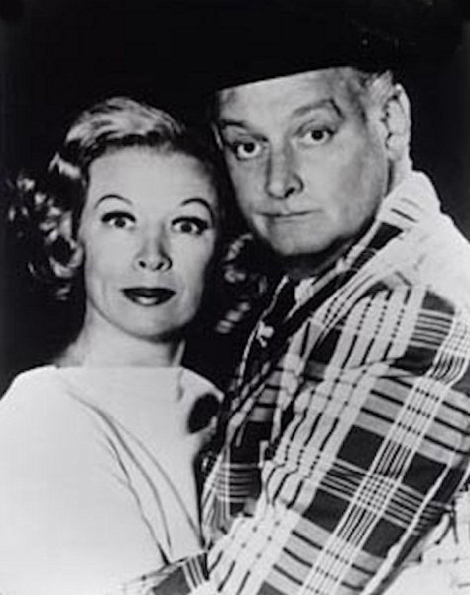 Jane Kean as Trixie in the Honeymooners, shown here with Art Carney, circa 1970's