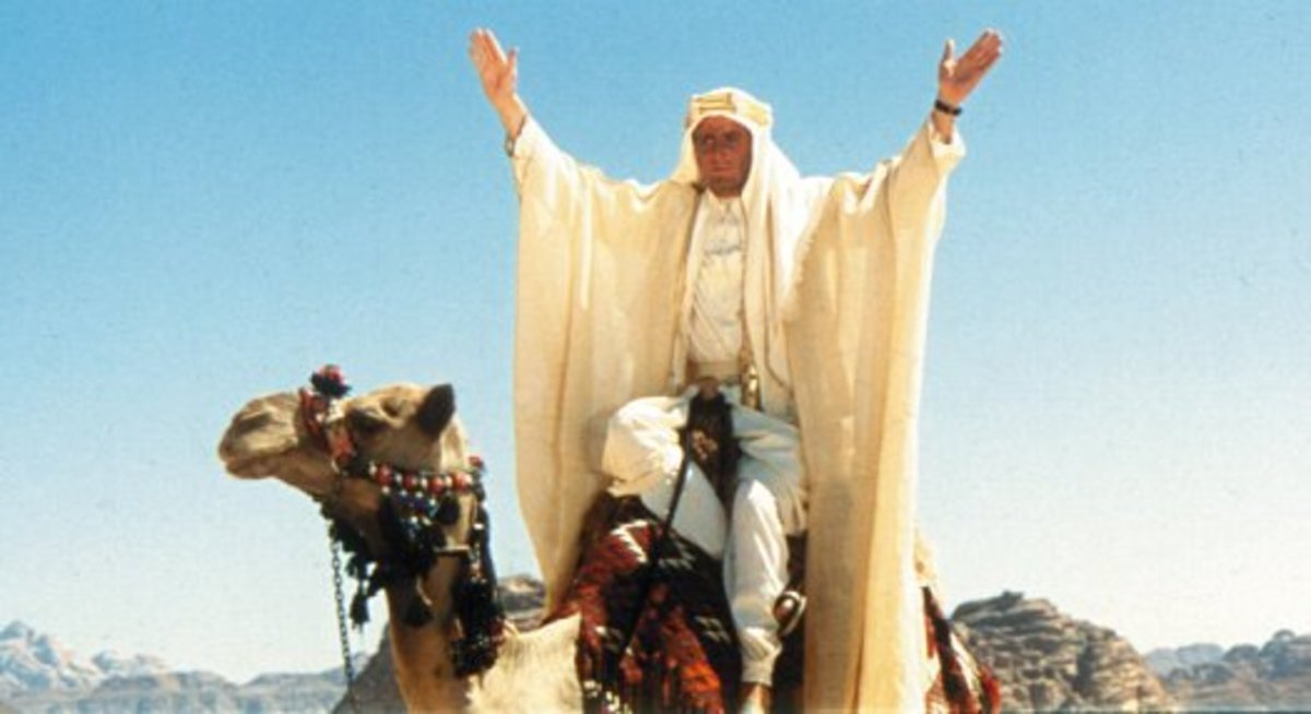Peter O'Toole in 1962 Lawrence of Arabia
