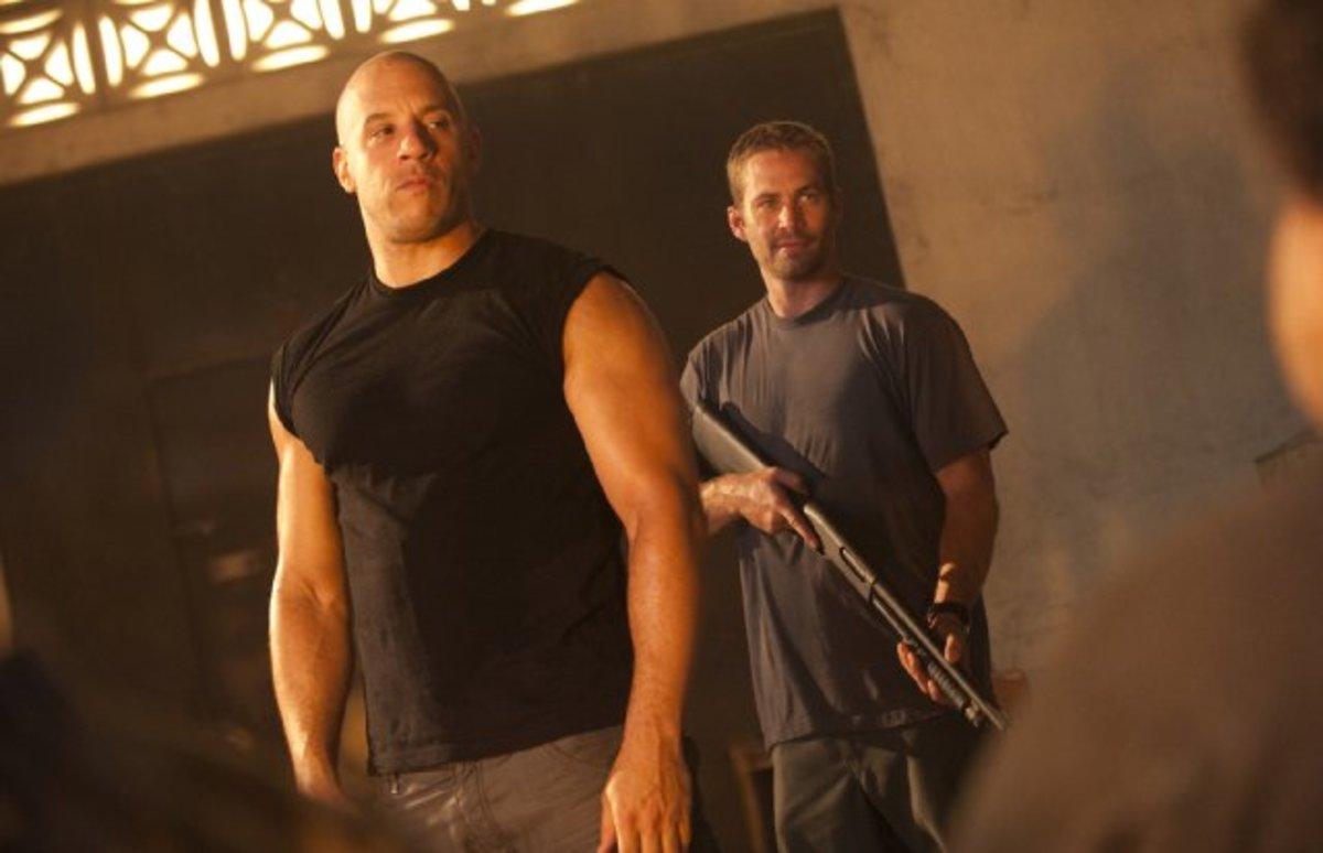 Paul Walker in Fast Five with Vin Diesel in 2011