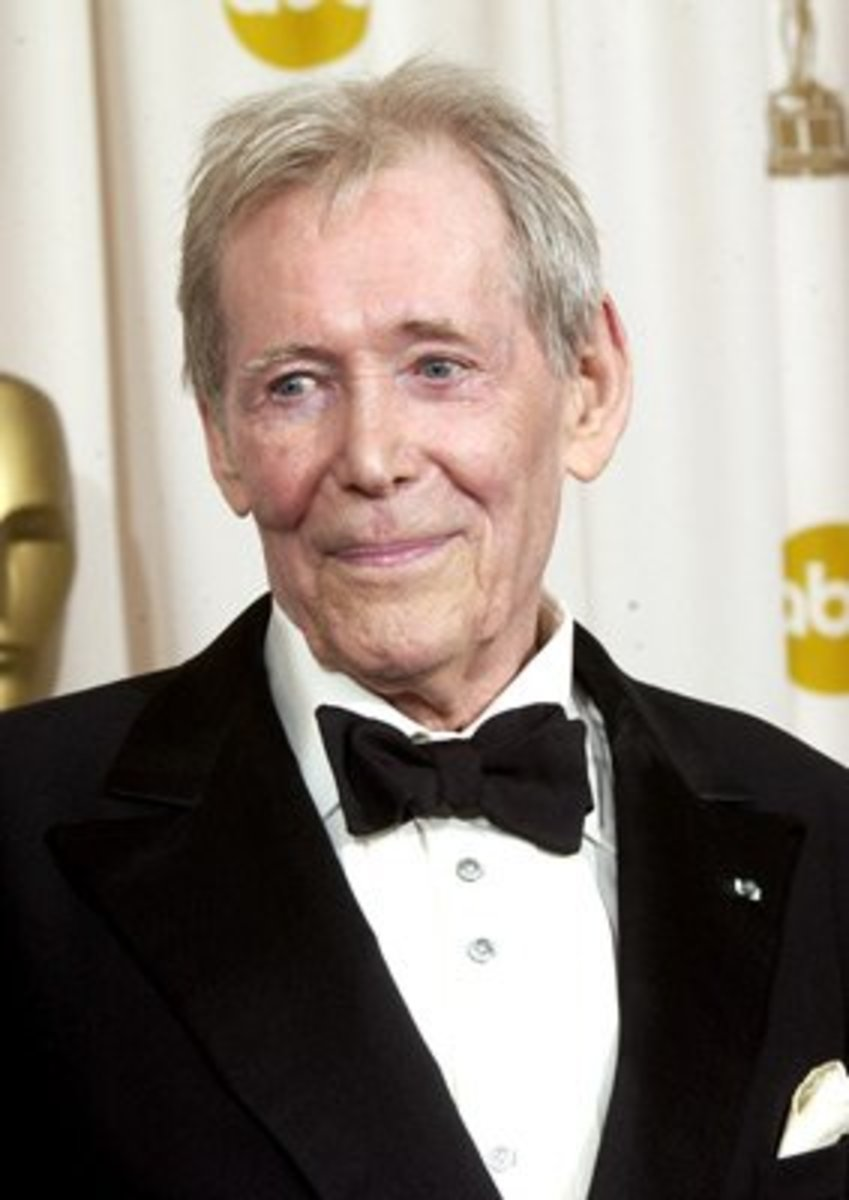 Peter O'Toole at the Academy Awards in 2003 receiving the Oscar for Lifetime Achievement