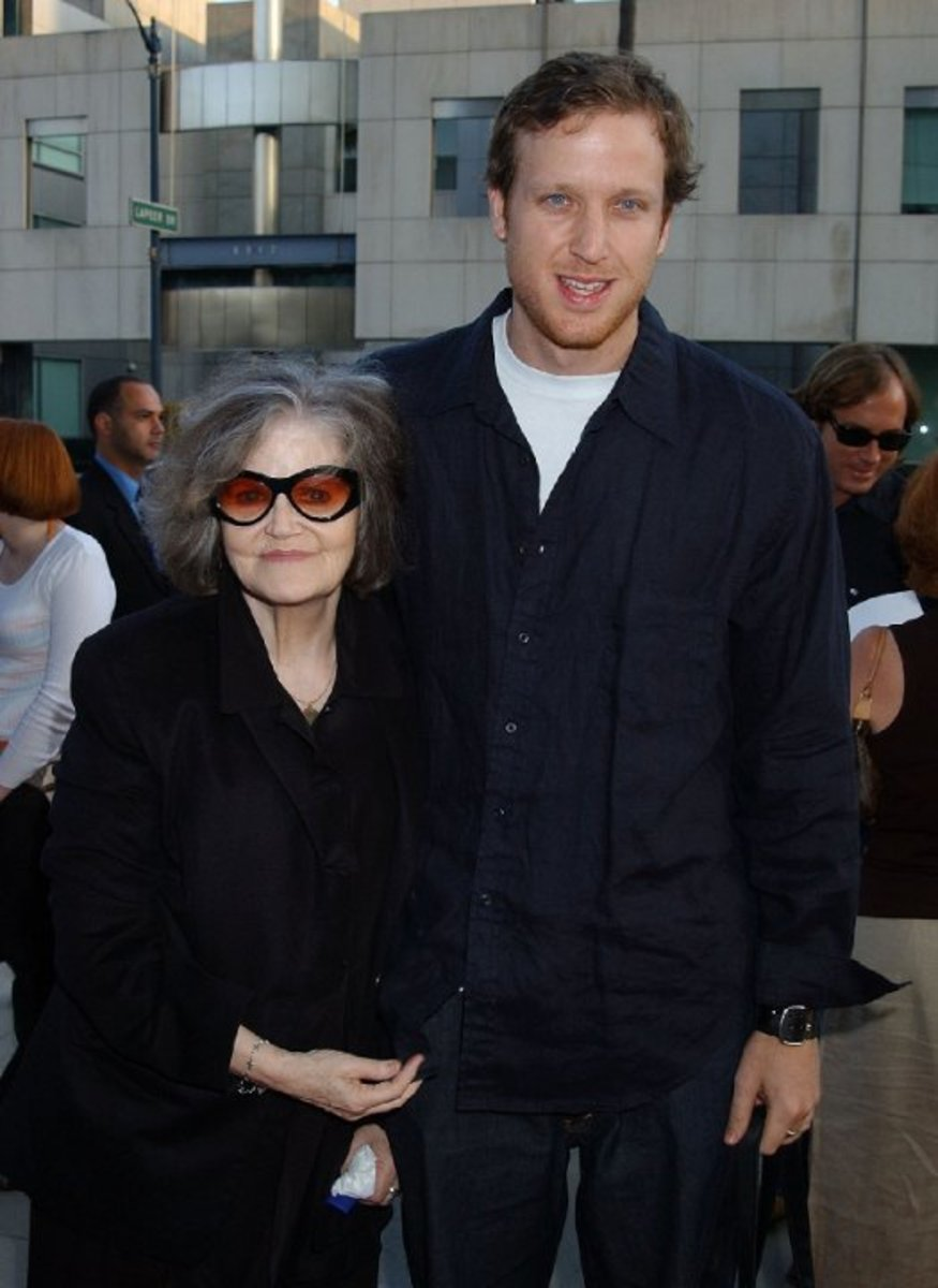 Eileen Brennan with her son Patrick, a former basketball player, now an actor - 2012