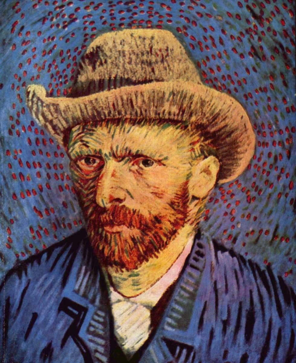 Vincent Van Gogh, self portrait, painted winter 1887-1888