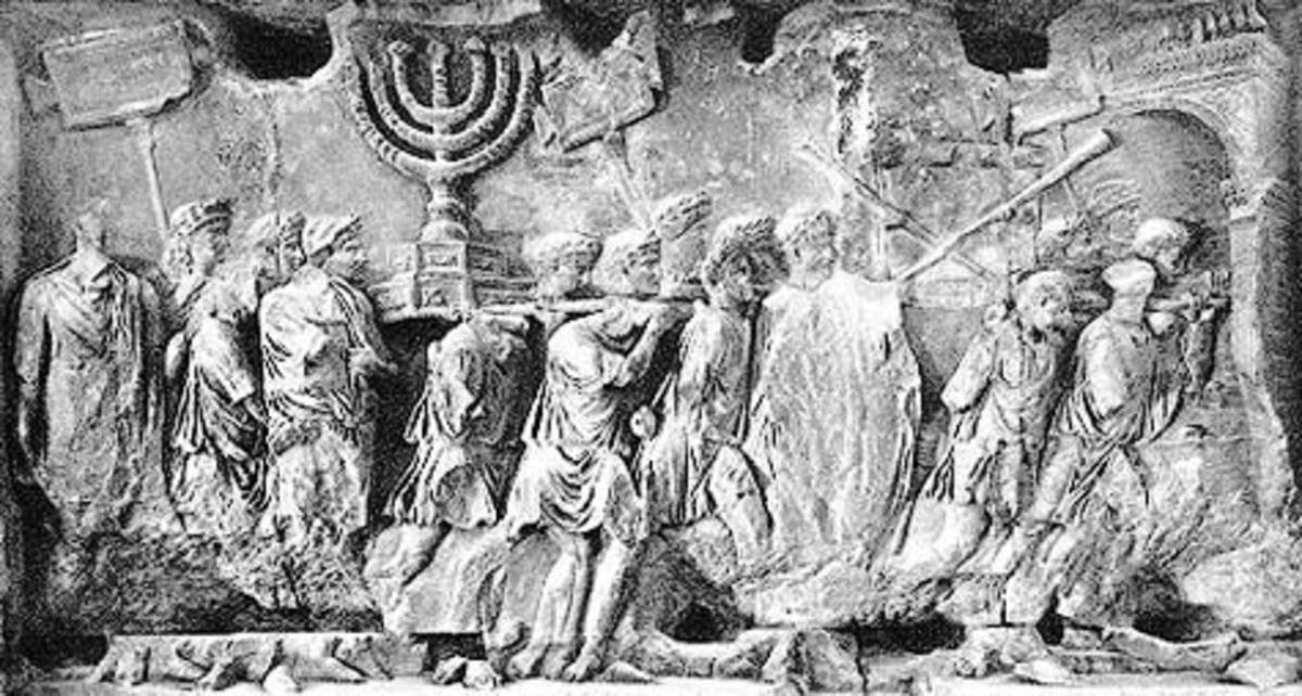 To the winner goes bragging rights as depicted in this Roman bas relief of the sacking of Jerusalem in 70 AD. Much of the city was burned, destroying most of the ancient records and local historical accounts .