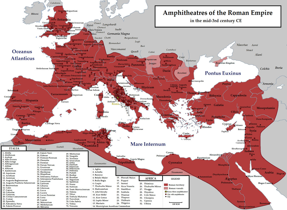 By the middle of the 3rd century, Rome had spread its imperialist holdings to many lands and sovereign peoples. The imported wealth and slaves and exported terror.