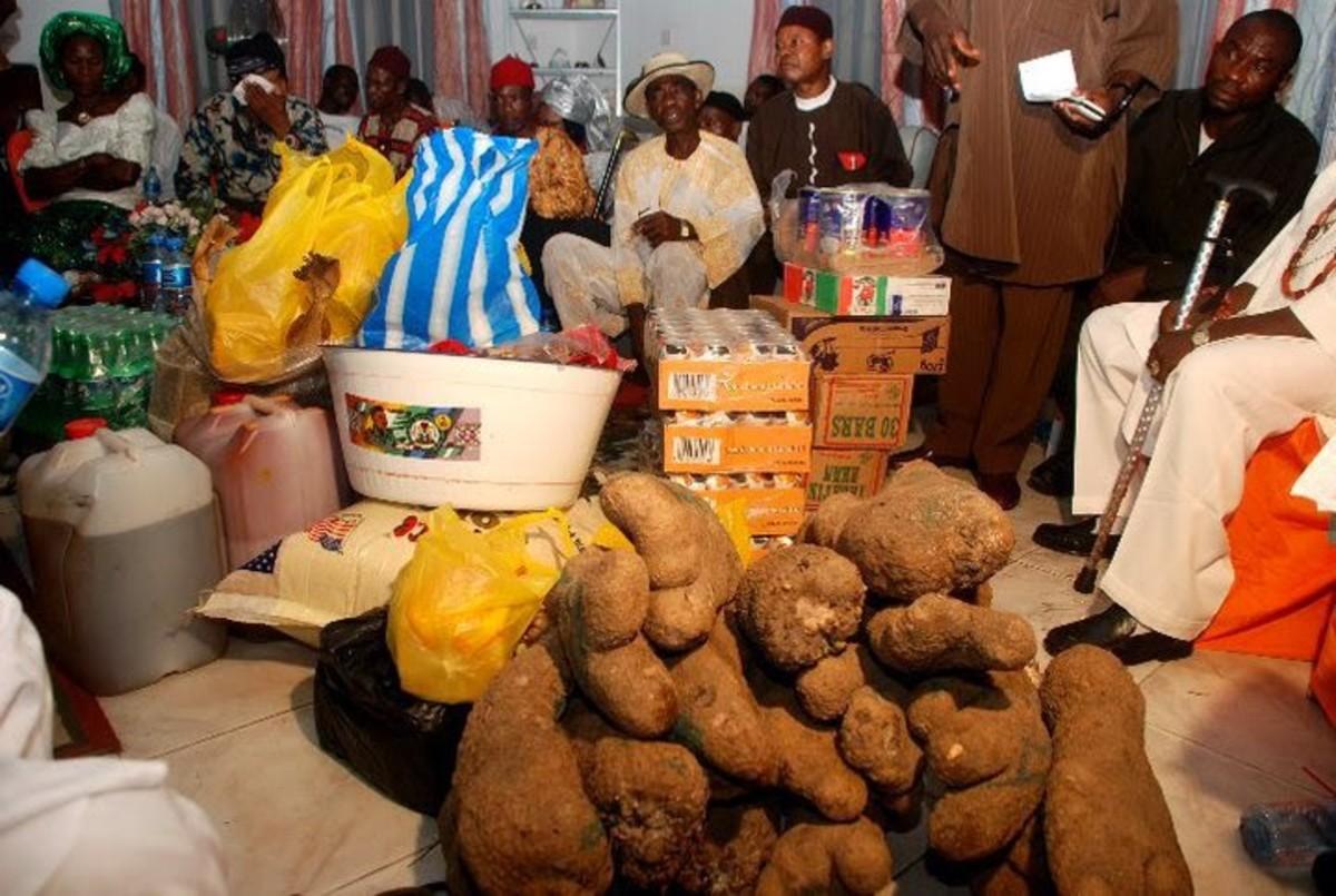 Igbo traditional wedding gifts