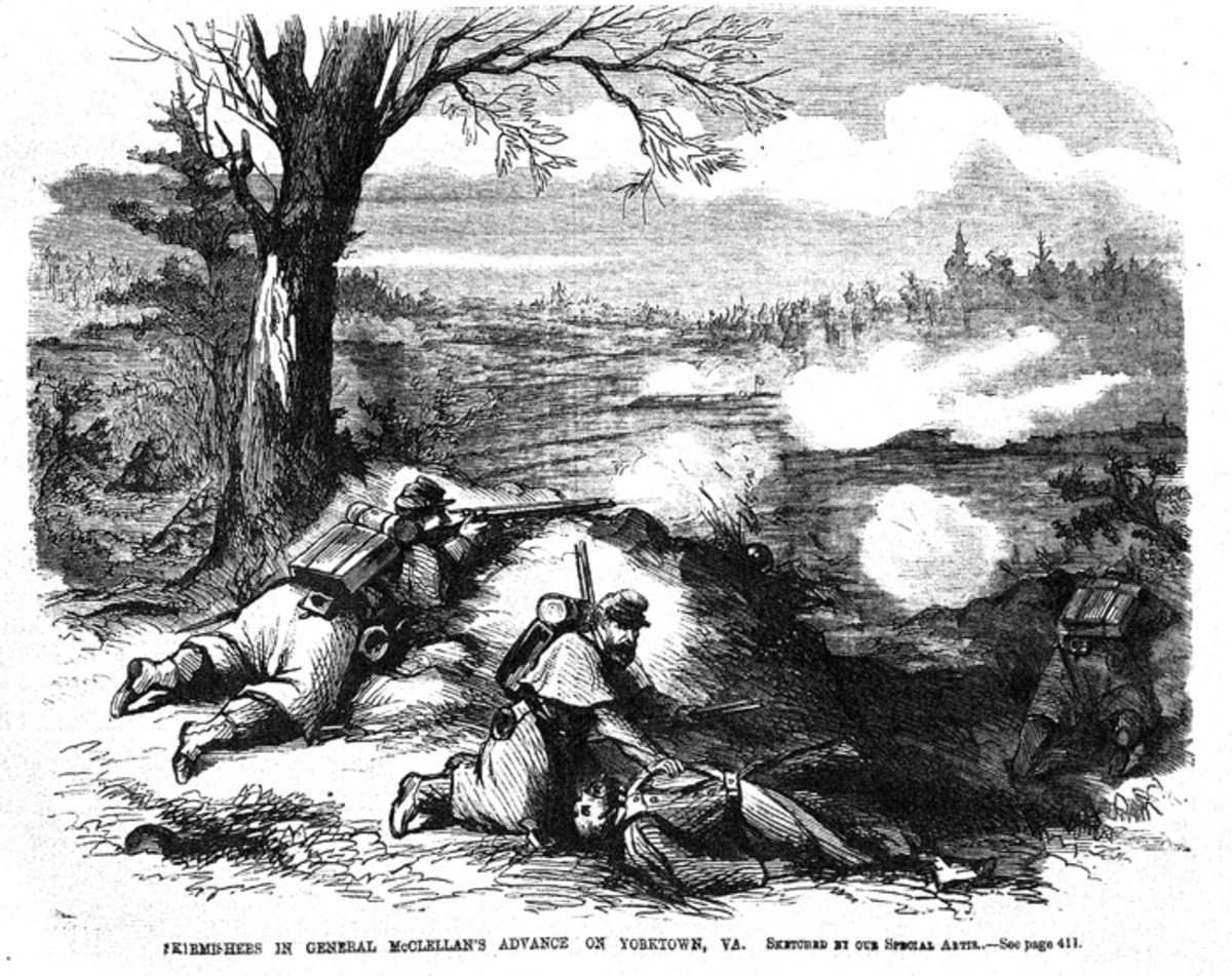 Sketch of Skirmishers' advance on Yorktown, VA