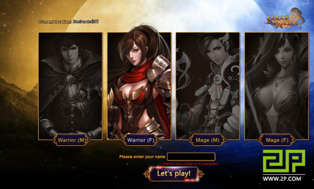 League of Angels Selection Screen