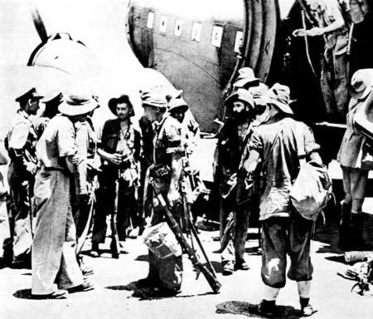 Chindits waiting to board Dakotas