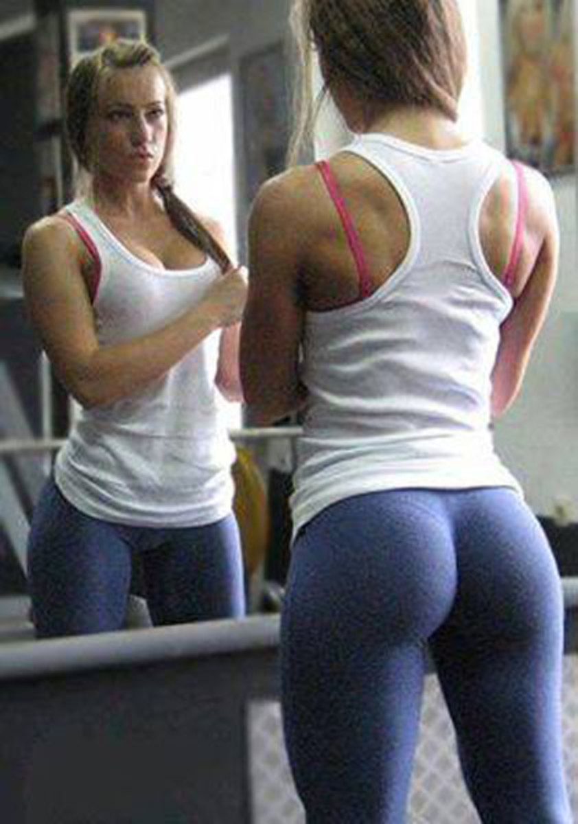 gorgeous girl who obviously does weightlifting and squats