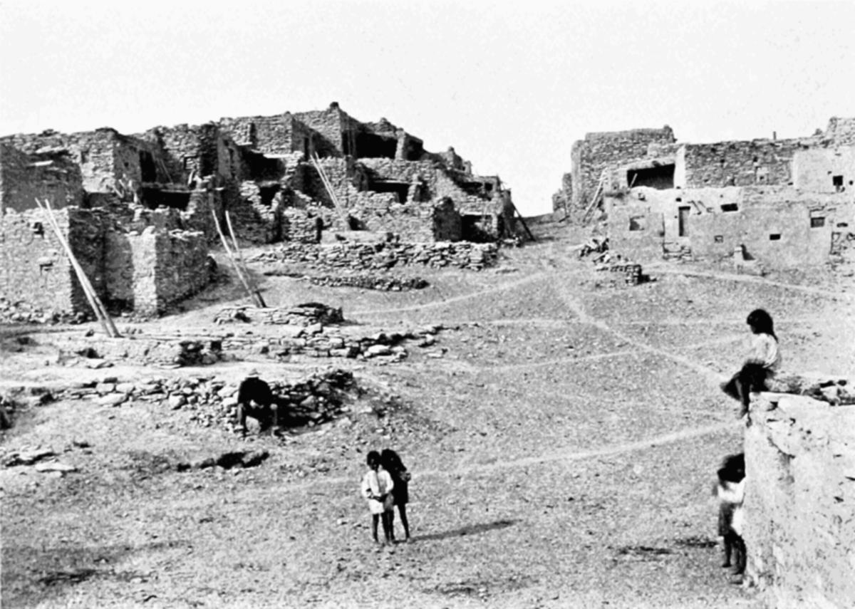 Oraibi Pueblo main street circa 1899.