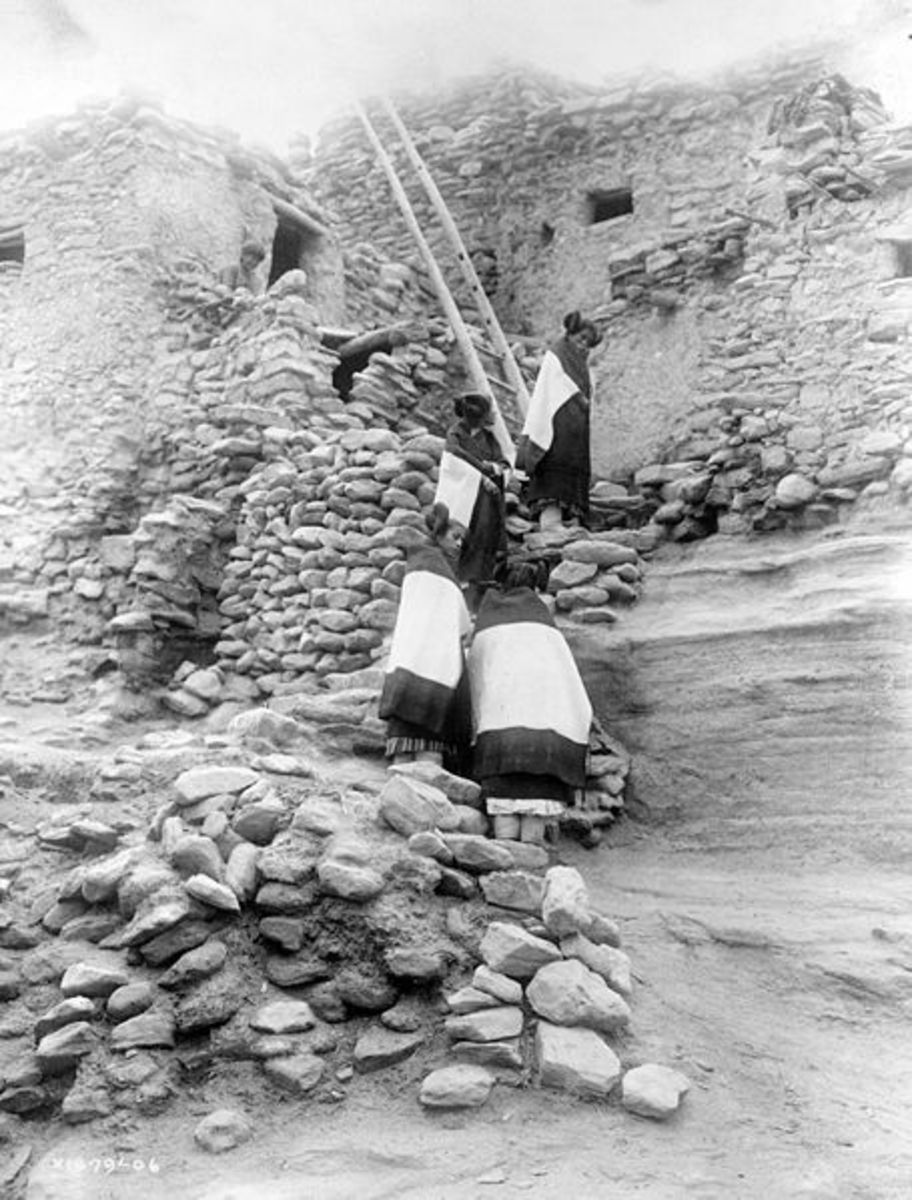Traditional Hopi homes circa. 1906.
