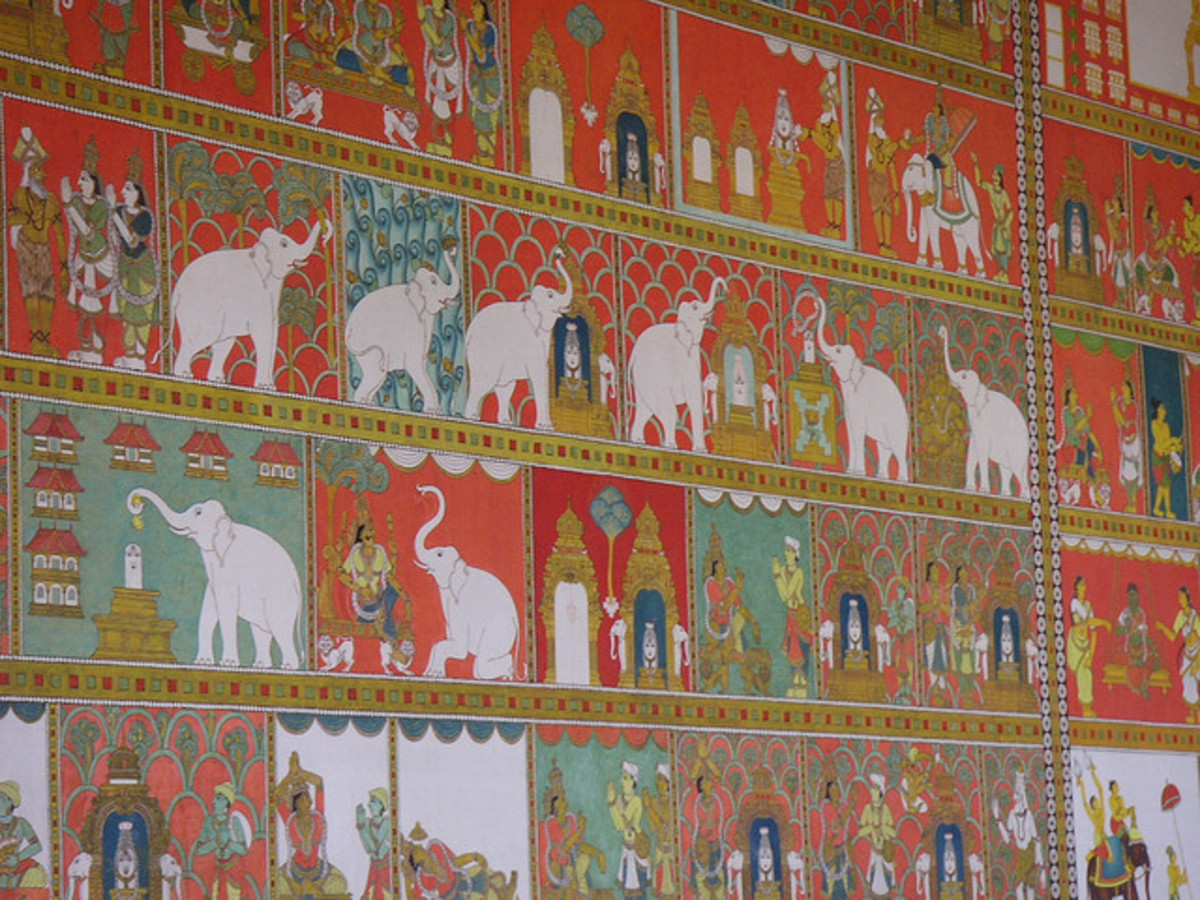 A closer view of paintings
