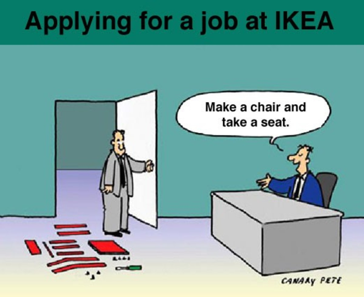 A funny cartoon showing the speciality of IKEA