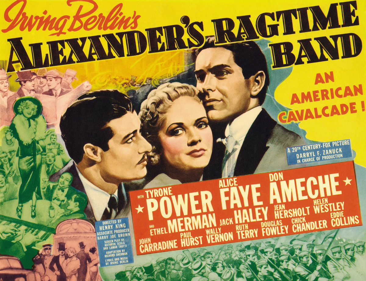 Poster for Alexander's Ragtime Band- a 1938 Irving Berlin Musical