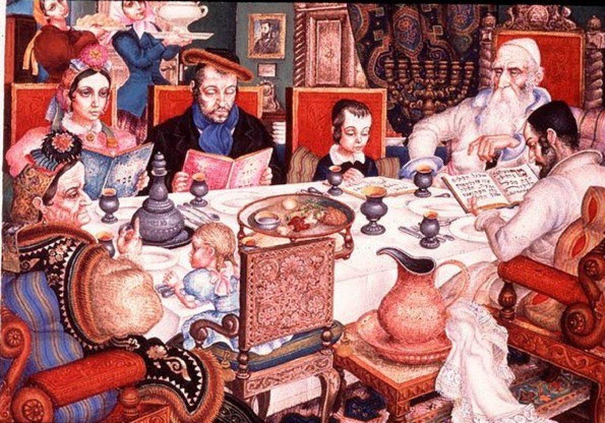 Passover Seder from Szyk Haggadah