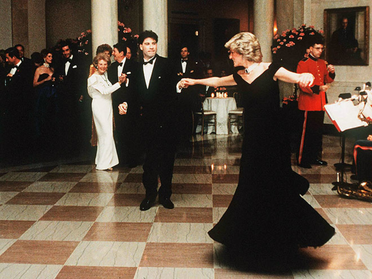 1985, Diana danced at the White House with John Travolta, something she had dreamt of.
