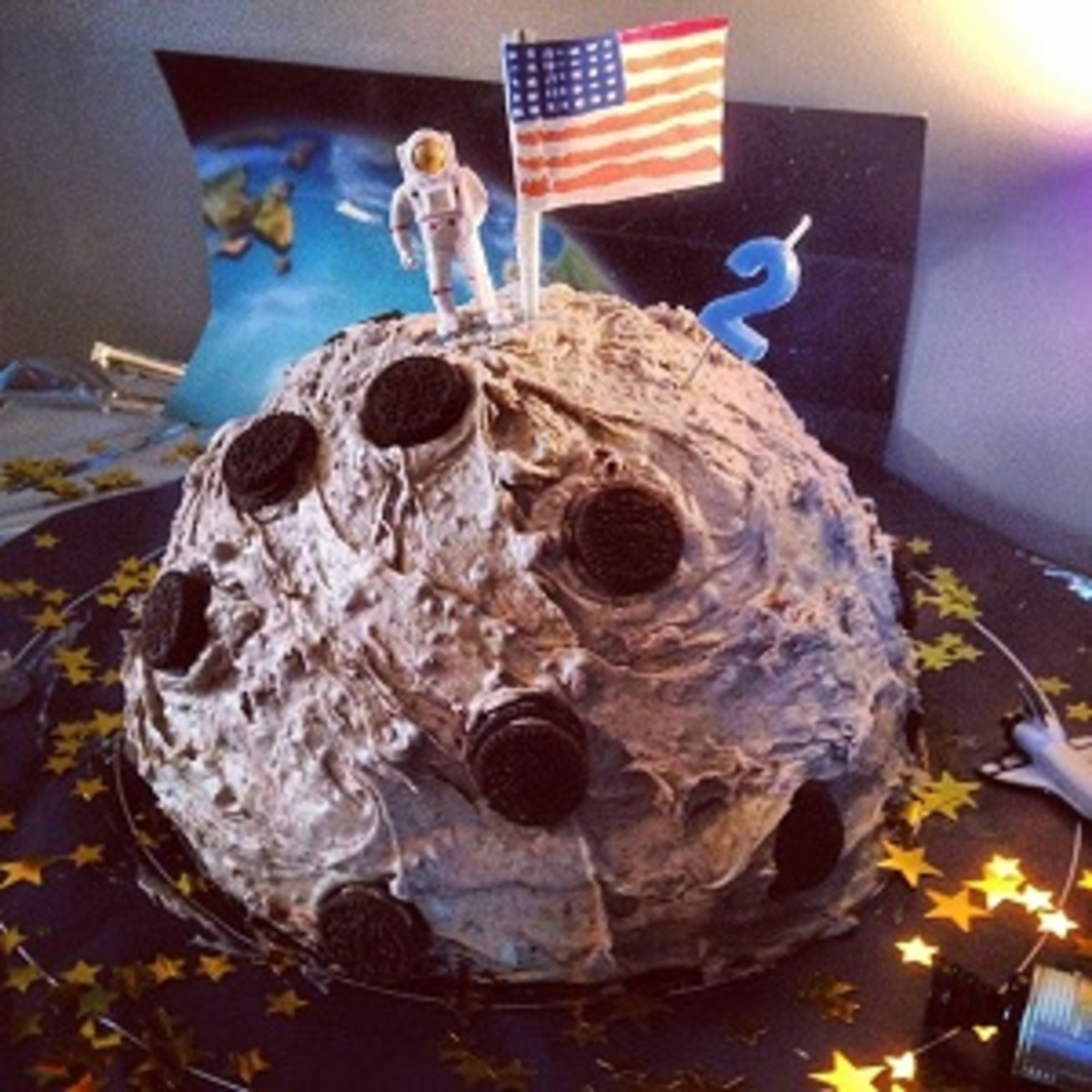 Outer Space Birthday Party Cake