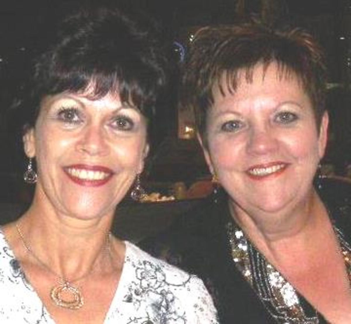 © Lorraine's two sisters, (Vonnie (left) & Sandra)