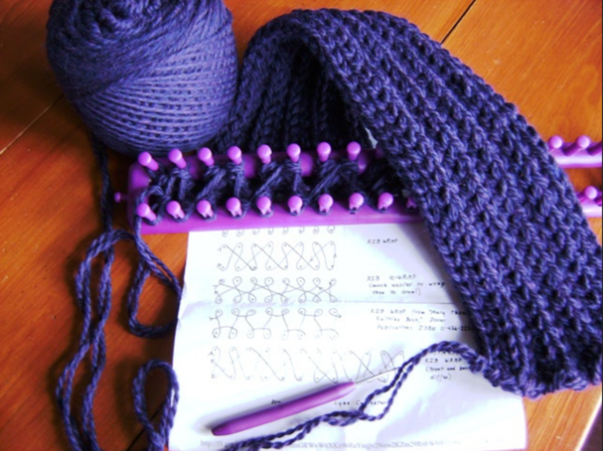 Loom Knitting Patterns For Beginners : How to get started with loom knitting tutorials